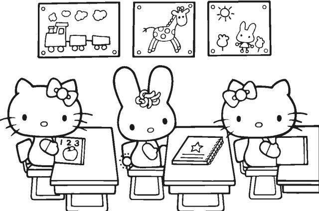 Coloring Pages For Hello Kitty And Her Friends Coloriage Hello Kitty Coloriage Livre De Couleur