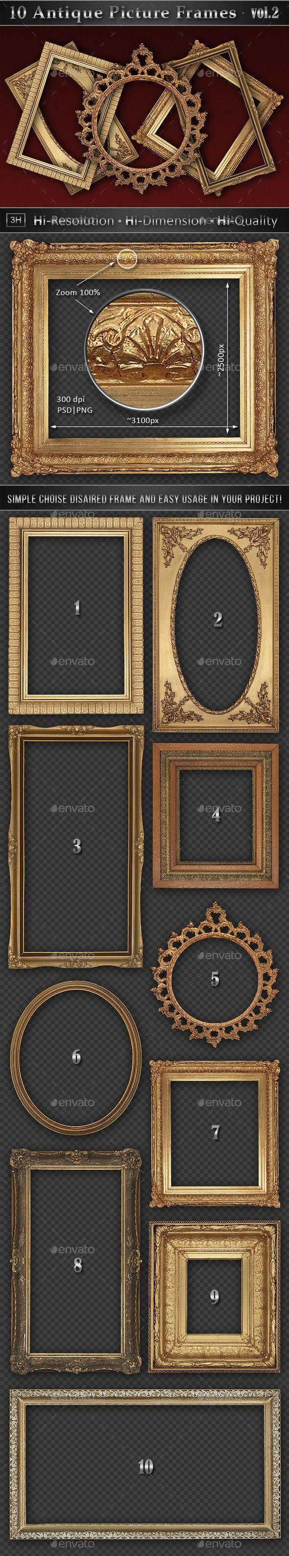 10 Antique Classic Picture Frames vol.2