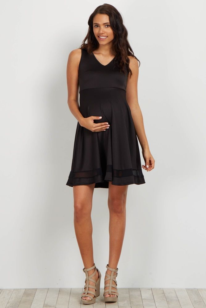 For the perfect going out dress, this pretty little number is fit to get the job done. Unique lightweight fabric and a chic mesh accent will take this basic dress to the next level. style this dress with your favorite heels and statement necklace for a complete look.