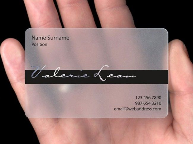 Transparent Plastic Business Visiting Card