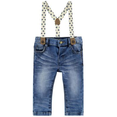 Mayoral - Boy slim fit jeans with removable braces - 209957