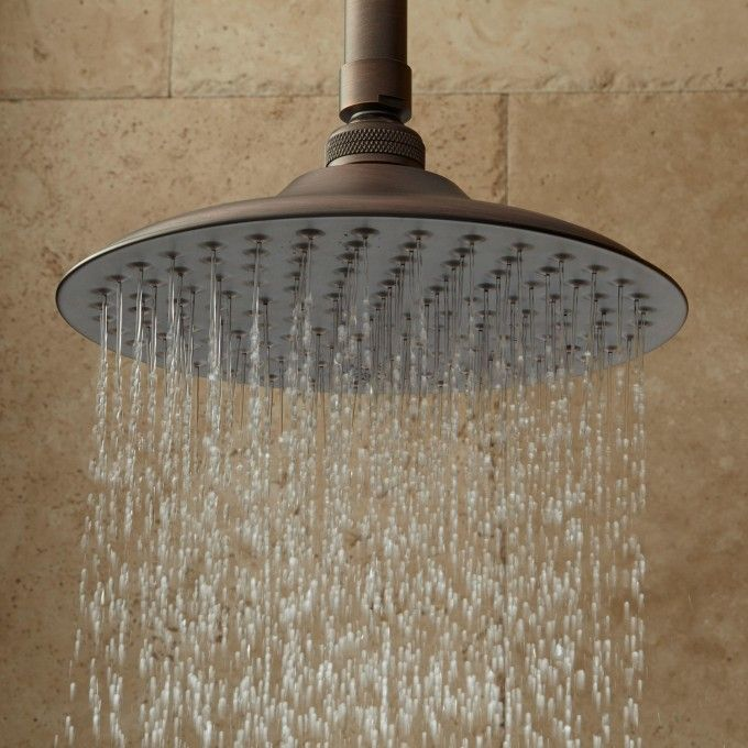Bostonian Rainfall Shower Head With Extended Shower Arm