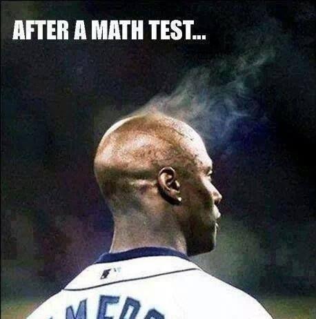 After a math test...