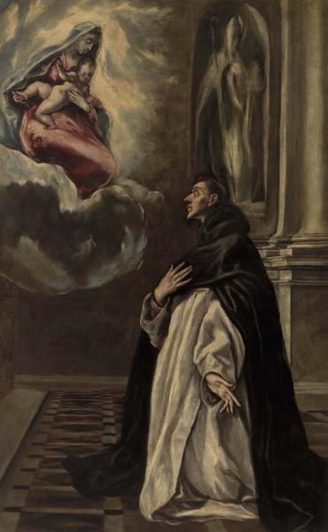 El Greco (Domenikos Theotokopoulos) - Apparition de la Vierge et de l'Enfant à saint Hyacinthe - The Barnes Foundation, Philadelphie