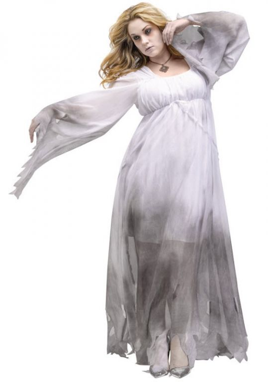 Women's Plus Gothic Ghost Costume - Adult Costumes
