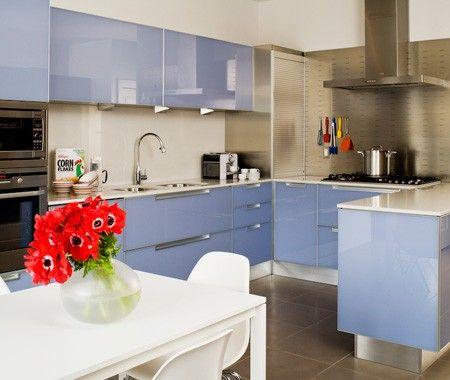 blue kitchen: Dreams Kitchens, Contemporary Kitchens, Colour Kitchens, Color, Contemporary Cuisine, Blue Kitchens, Colour Cabinets, Photo Galleries, Design Kitchens