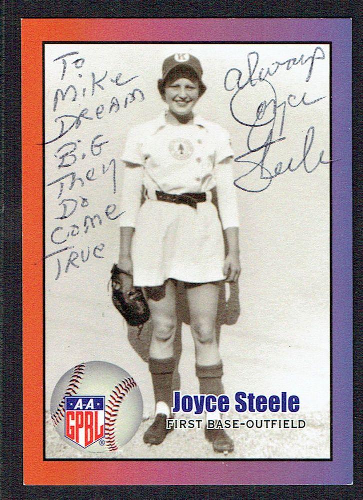 Joyce Steele signed autograph auto 2011 AAGPBL Baseball Trading card