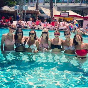 "Blog Post: Las Vegas Recap: My Most Frugal Trip Ever ""Drinks were super cheap for us. Luckily all the promoters and clubs want big groups of bachelorette parties, so we were able to get open bar and free tables each night. It's nice to be a girl!"""