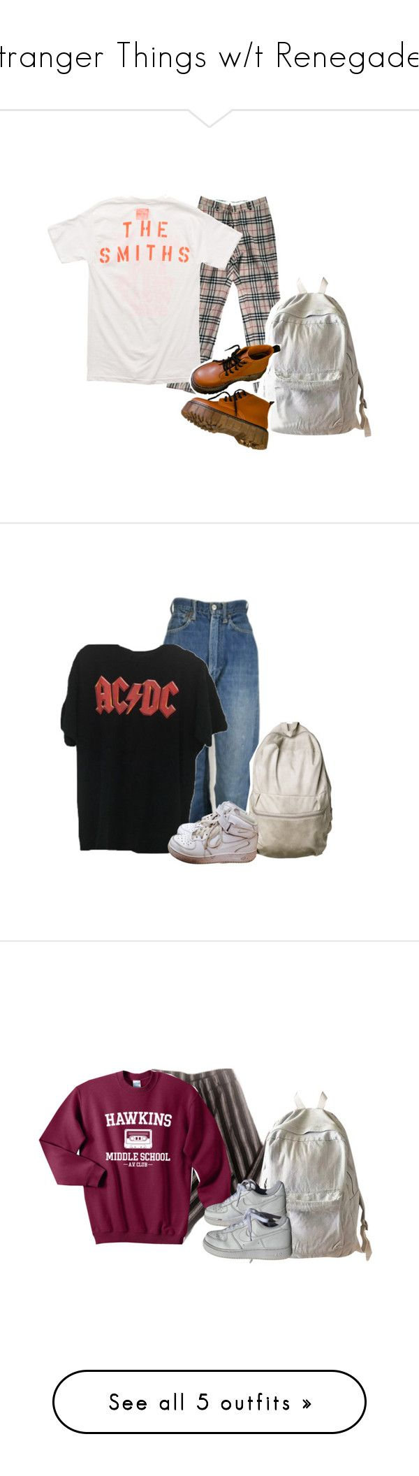 """Stranger Things w/t Renegade🔦"" by maple-virgo920 ❤ liked on Polyvore featuring Burberry, Opening Ceremony, WithChic, Levi's, NIKE, American Apparel, Jones New York, Converse, J Brand and Chanel"