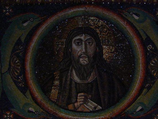 Basilica di San Vitale, Ravenna. I Mosaici bizantini, 546-547. Il periodo di Giustiniano. CRISTO