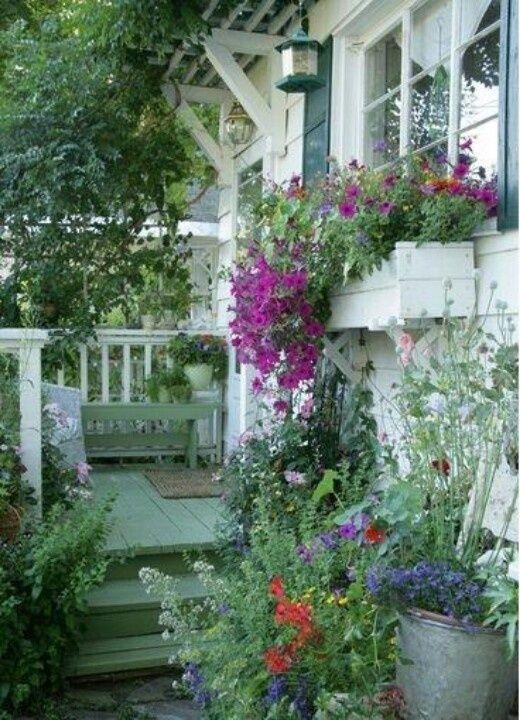 homes with window box   amazing porch & window box!!