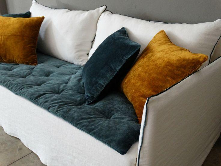 1000 id es propos de canap en velours bleu sur - Canape sur mesure en ligne ...