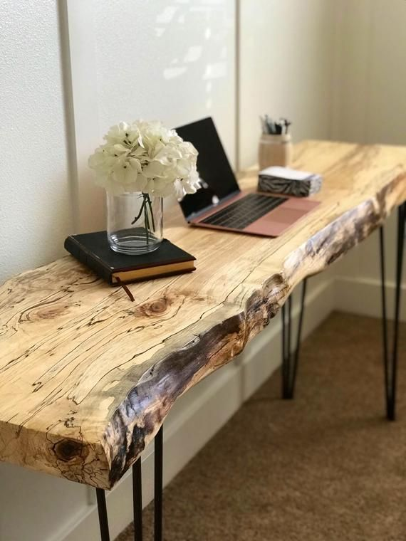 Live Edge Table / Live Edge Desk / Live Edge Sofa Table / Desk If you like … – …   – Dıy Desk vintage Ideen