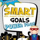Superhero theme! Everything you need to help your students set and reach SMART (Specific, Measurable, Attainable, Reason, Time) goals. This goal se...