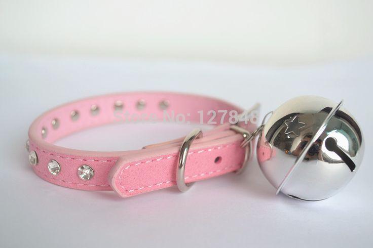 Мягкие кожаные ошейники для собак pet ошейник кота ошейник колокол синий розовый