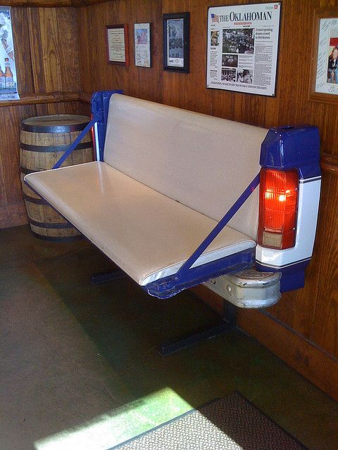ha!  this could be an awesome backyard bench or bar... hilarious...