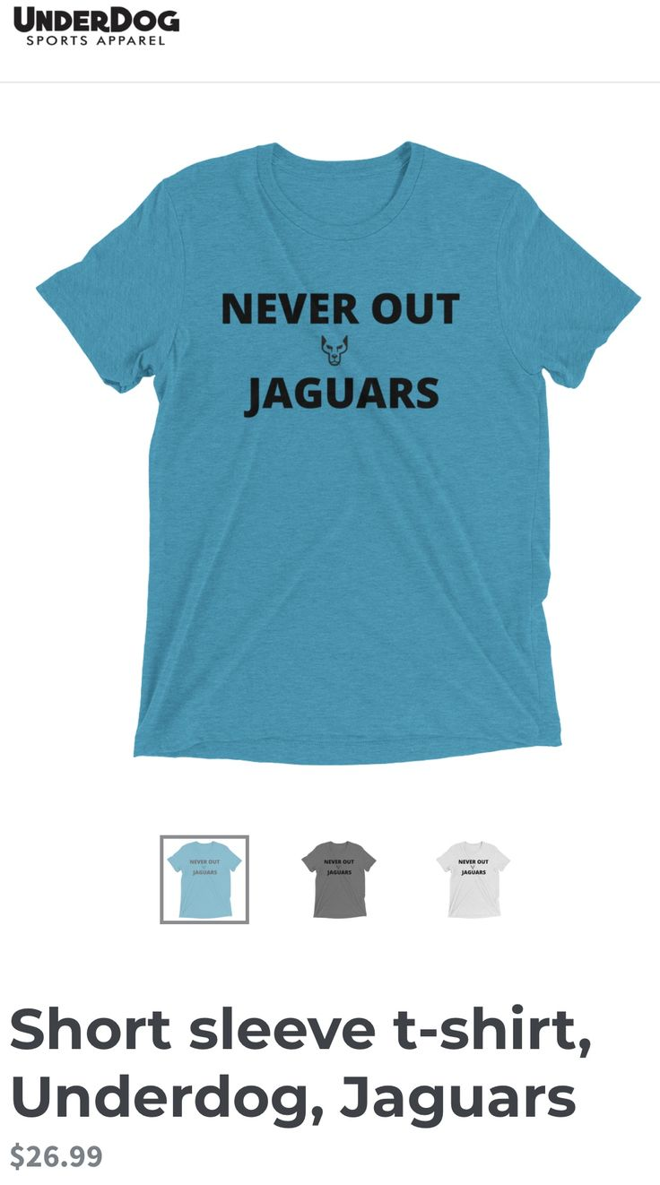 Down but never out! www.underdogsportsapparel.com, #nfl #jaguars, #steelers #playoffs, #jacksonville