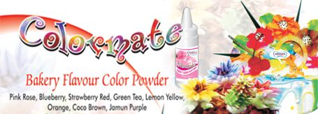 Color Mate is prepared to utilize shading powder utilized for finishing cakes and baked goods. Additionally accessible in refill pockets of 100gms each. http://goo.gl/LqWupi