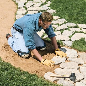 Flagstone Walks - Sand-Set & Mortared Patios - Walkways, Patios, Walls & Masonry. DIY Advice