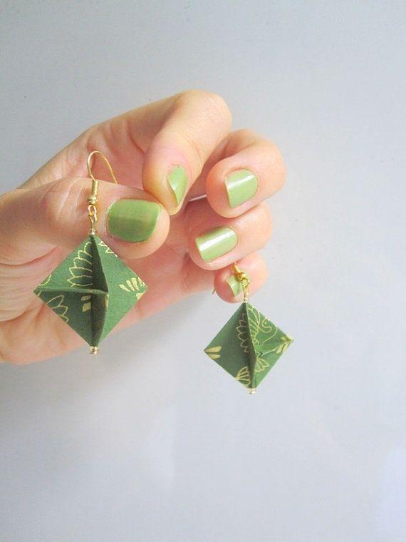 Elegant Origami Earrings  Architect by ArsOrigami on Etsy, €15.00
