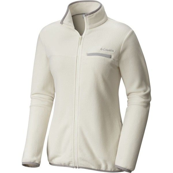 Columbia Mountain Crest Full-Zip Fleece Jacket ($50) ❤ liked on Polyvore featuring outerwear, jackets, columbia, fleece jacket, columbia jackets, full zip jacket and full zip fleece jacket