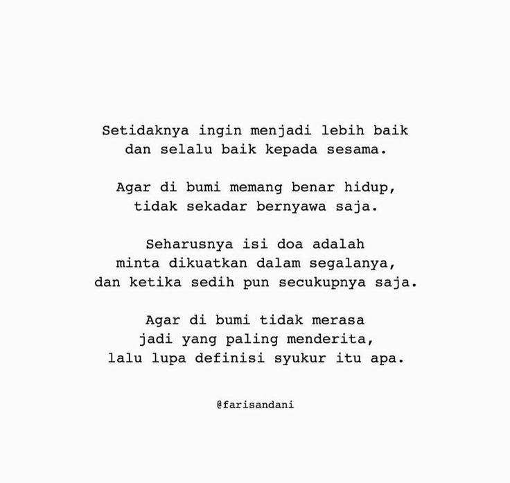 Pin By Anisa Aprillia Damayanti On Quote Sedih Bersyukur Doa