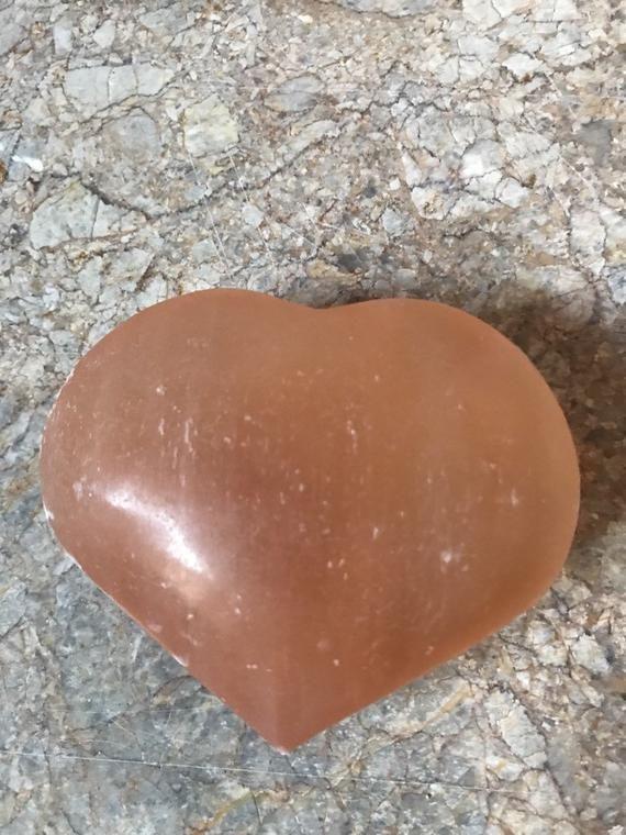 Reiki Healing Valentines Gift Meditation Large Selenite Heart Angel Stone