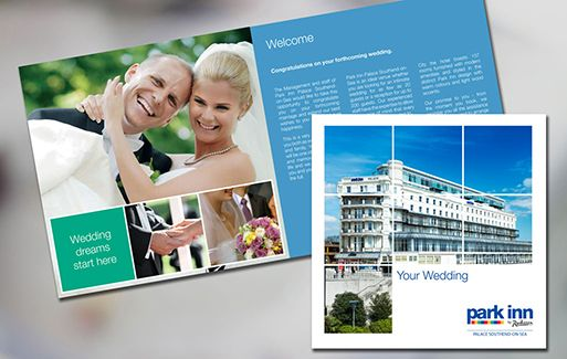 Wedding brochure for Park Inn hotel, Southend.