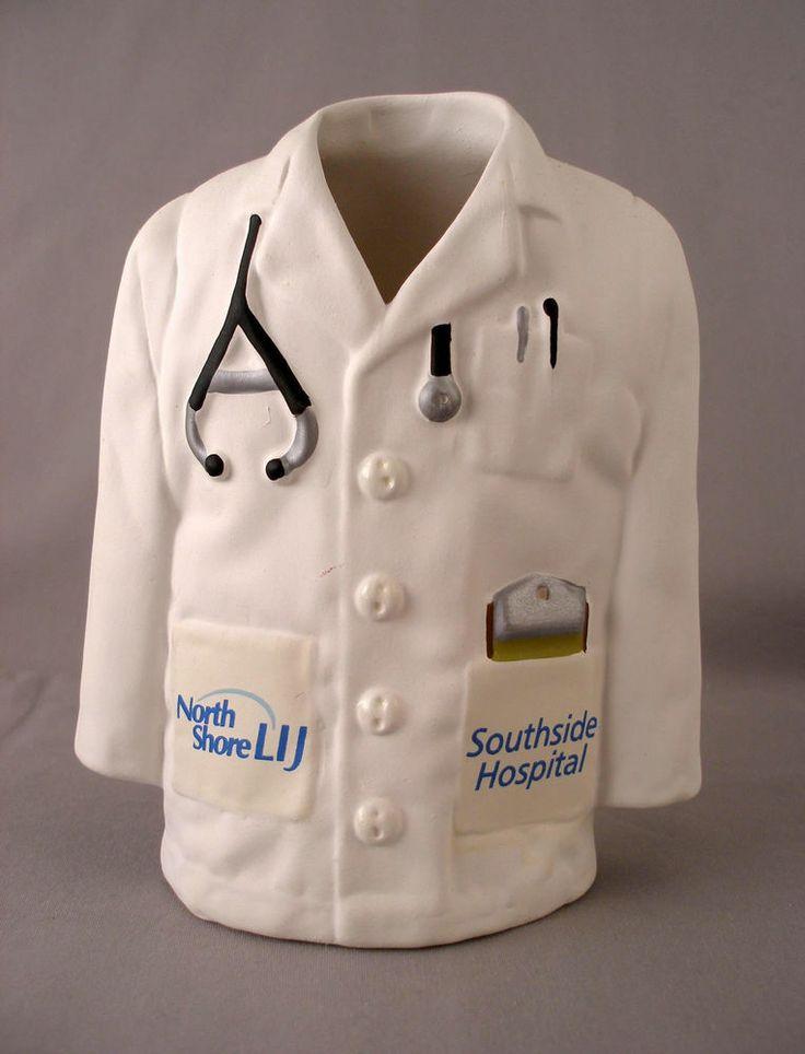 """North Shore LIJ Southside Hospital """"Doctor Coat"""" Vase Pen Holder"""