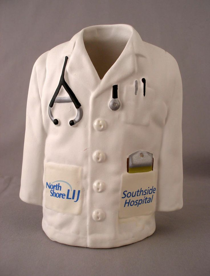 "North Shore LIJ Southside Hospital ""Doctor Coat"" Vase Pen Holder"