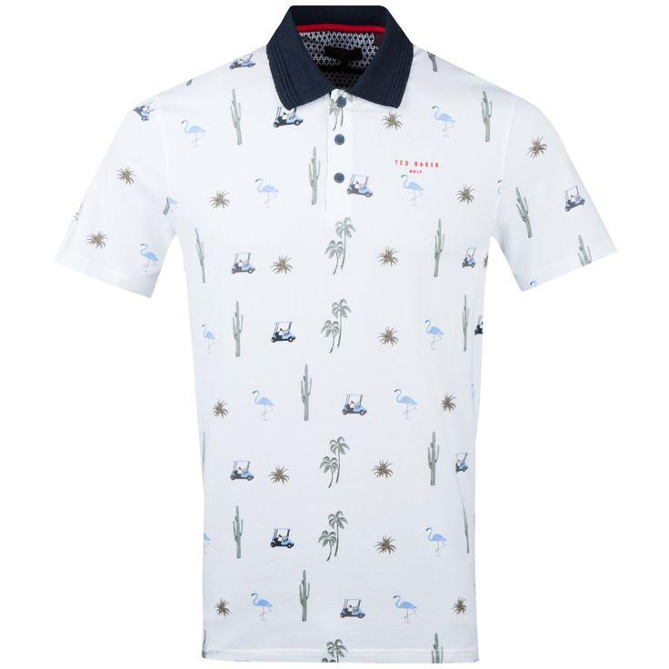 Ted Baker Oneput White   Golf Polo Shirt   TRENDYGOLFUSA.COM