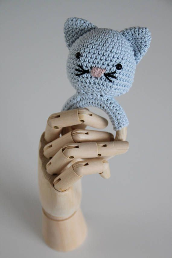 Kitty rattle and teething ring