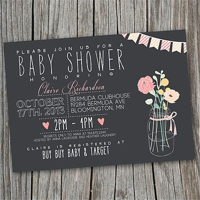 Gorgeous Invitations for a baby or bridal shower