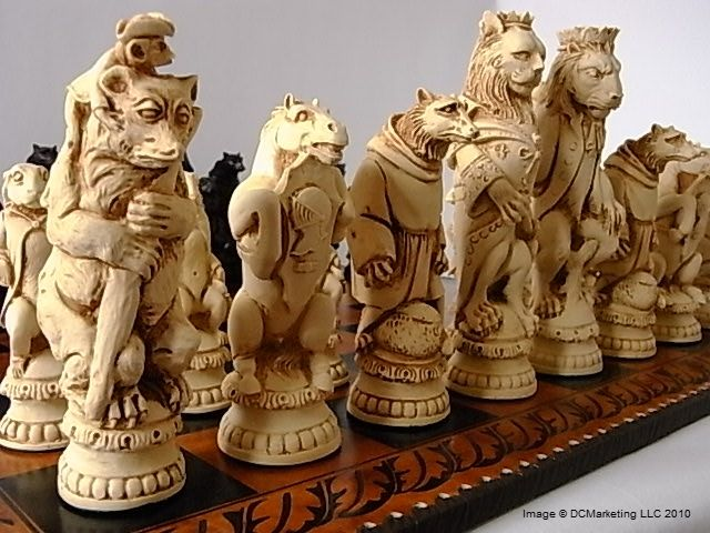 https://www.pinterest.com/electricone77/chess-chess-sets-chess-tactics-chess-openings/ Chess is a game that offers an immense selection of different chess sets in various different themes such as these pieces from a lord of the rings chess set.