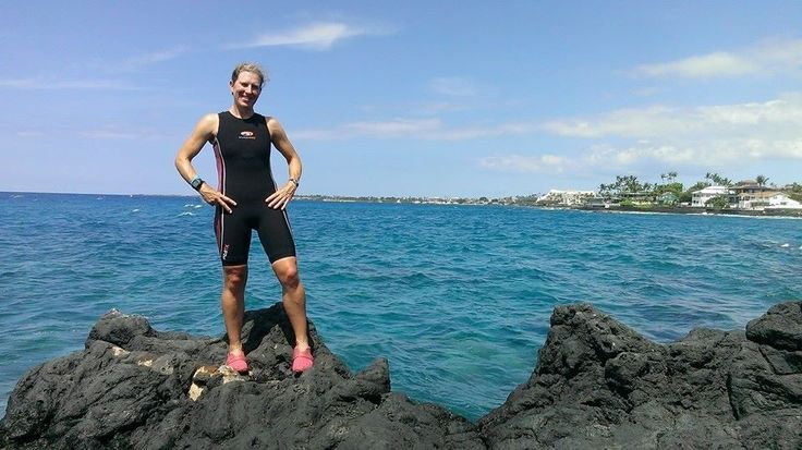 At Ironman World Championships in Kona, Hawaii.