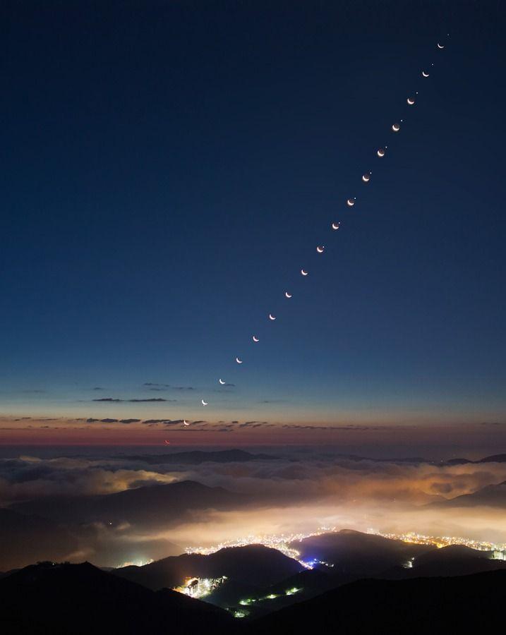 APOD: Setkání Měsíce s VečernicíMeeting Mornings, Moon, Mornings Stars, Moon Meeting, Night Sky, Cities Lights, Planets Earth, The Moon, Outer Spaces