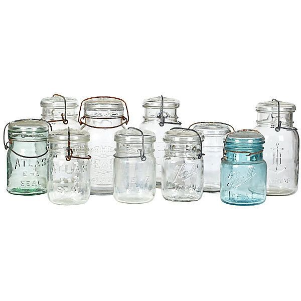 preowned 1960s kitchen glass canning jars s10 195 liked - Glass Spice Jars