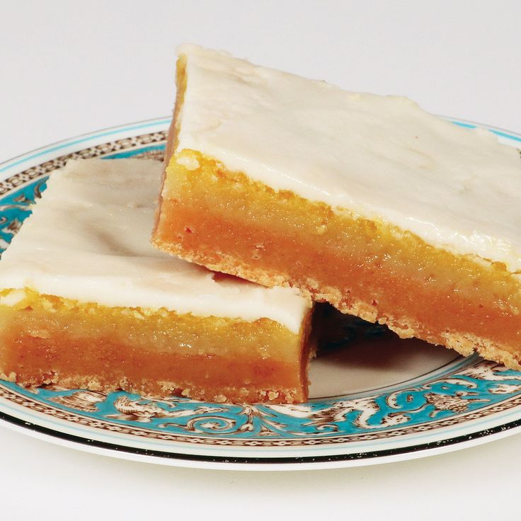 "Lemon Bar - Tart lemon bars topped with a sweet buttercream icing; 6"" X 9"" tray in a gift box. Other bars also available."