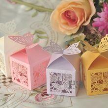 Quatro cores para o seu escolheu A Laser Borboleta Para Fora Caixas Dos Doces Lembranças De Casamento Favores Do Partido Decorações Mostrar Caixa de Doces para os hóspedes(China (Mainland))