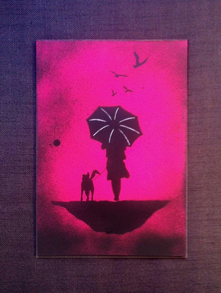 Solitude - Original, Handmade Stencil, Artwork Painting by DrStencil on Etsy