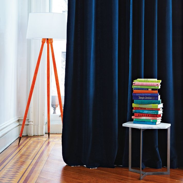 royal blue velvet curtains