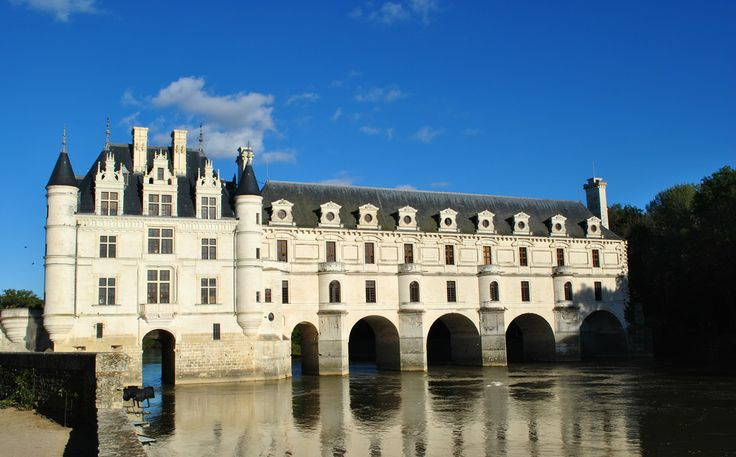 A view of Chenonceau from Catherine de Medici's garden. When Catherine took over the castle she had a rose garden laid to compete with the garden laid by her husband's mistress, and former occupant, Diane.