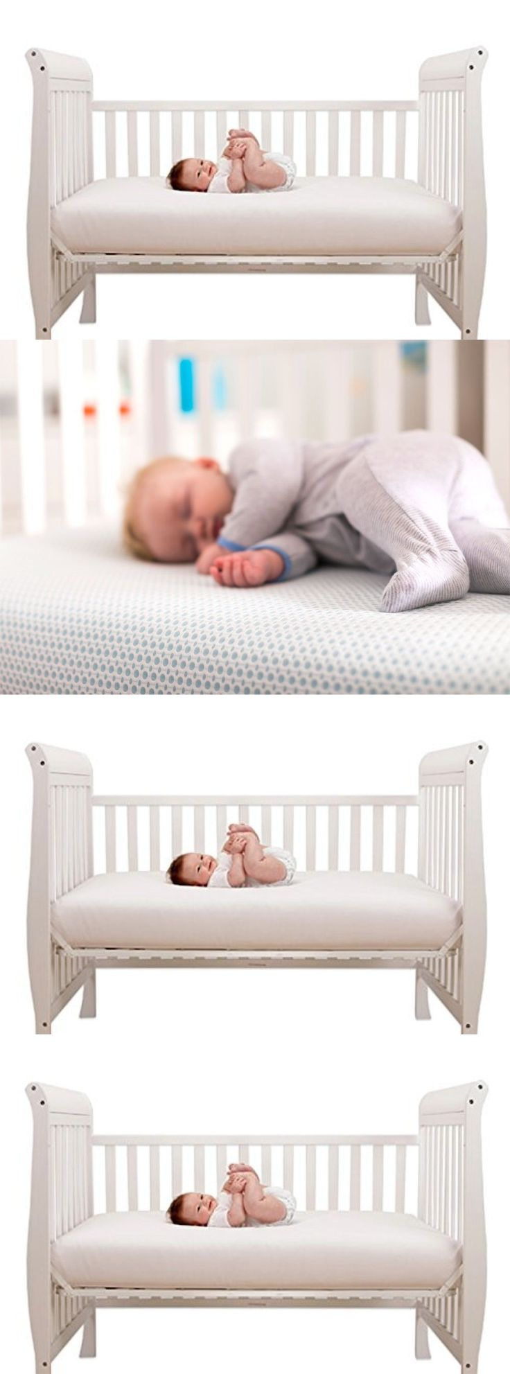 Crib Mattresses 117035 Baby Memory Foam Mattress Standard Bed Infant Comfort 28 X52 3