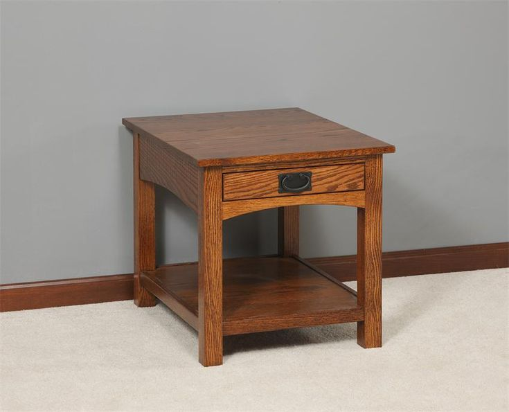 Amish Mission Arched Side End Table