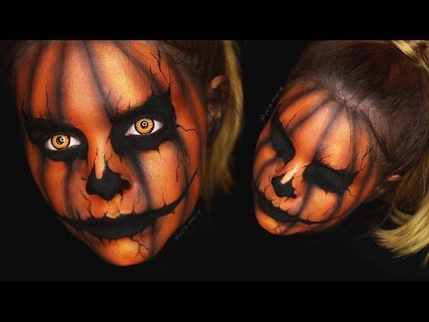 CREEPY HALLOWEEN PUMPKIN / KÜRBIS • Makeup Tutorial   #spooktober - YouTube
