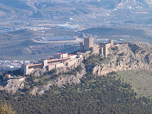Jaen, Spain - Castillo de Santa Catalina - Truly beautiful view from here, looking down on Jaen.