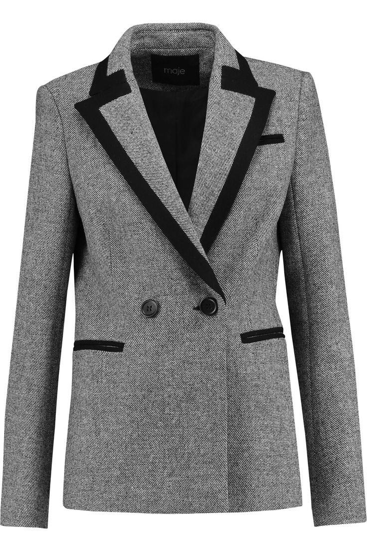 MAJE DOUBLE-BREASTED WOOL-BLEND BLAZER GBP184.50 http://www.theoutnet.com/product/979121