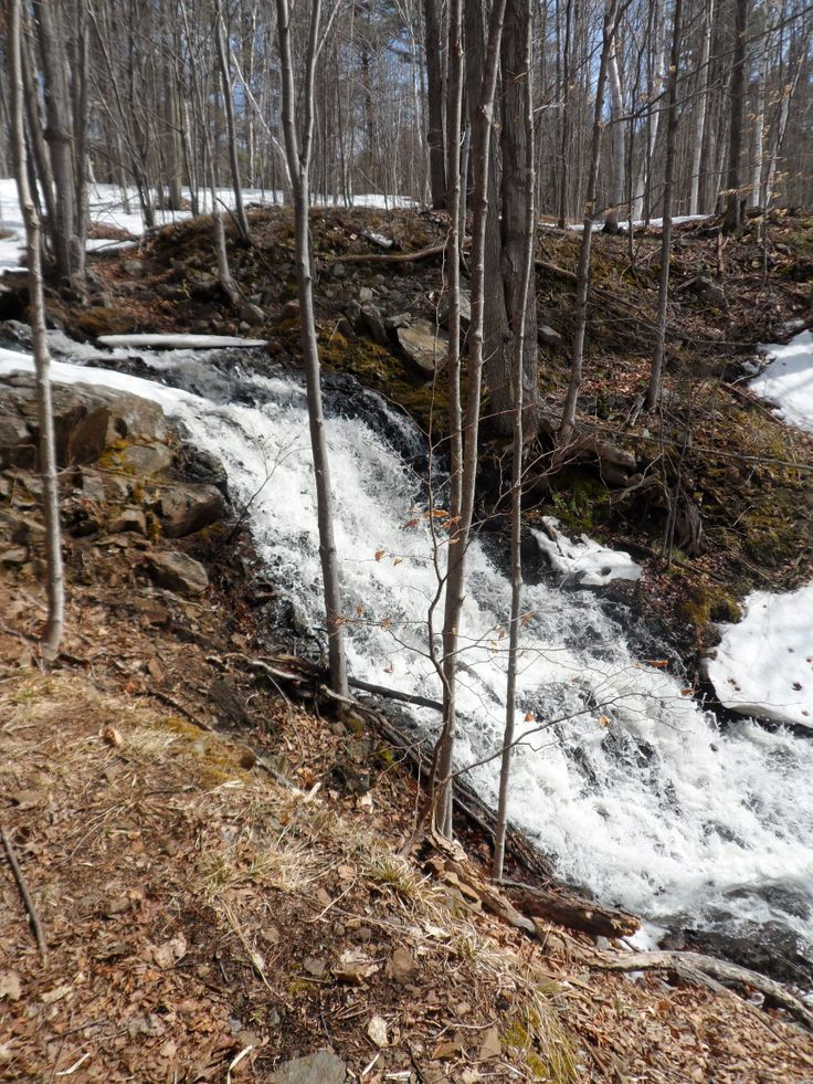 Waterfall at Frontenac Provincial Park on the Tetsmine Lake Loop @Ontario Parks