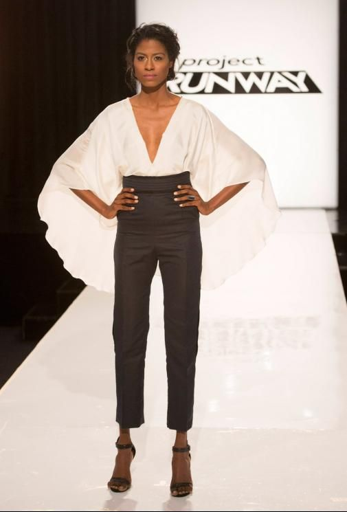 Top designed by Sean but constructed by Kini ~ Project Runway Season 13 Rate the Runway Sean Kelly Episode 6 Look