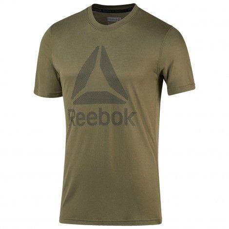 Reebok Workout Ready Supremium 2.0 shirt heren army green De Wit Schijndel